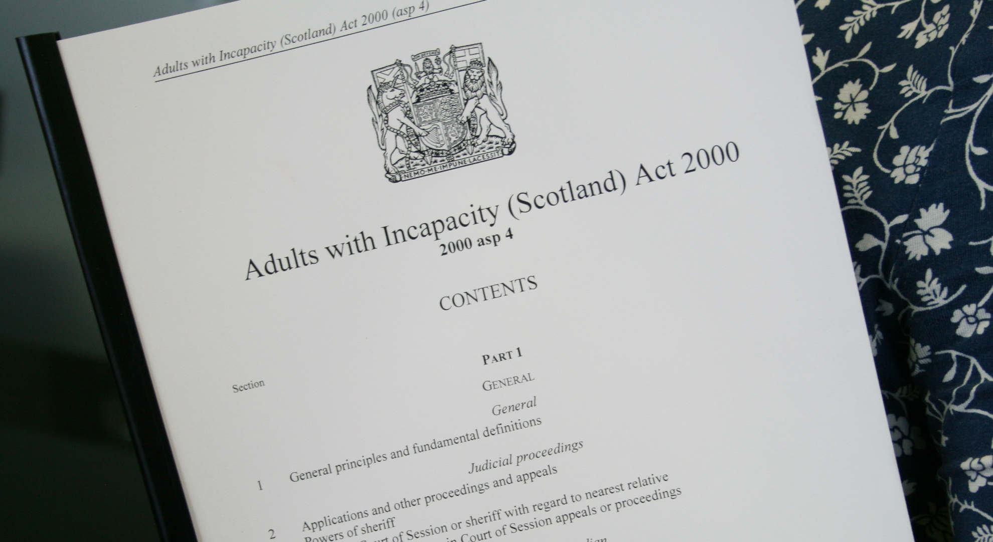 Adults with Incapacity Act   Mental Welfare Commission for